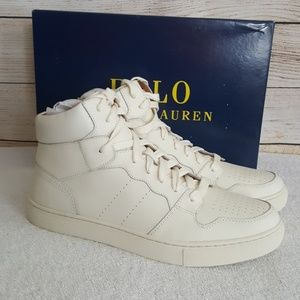 New Polo Ralph Lauren Jorey High Top Sneakers